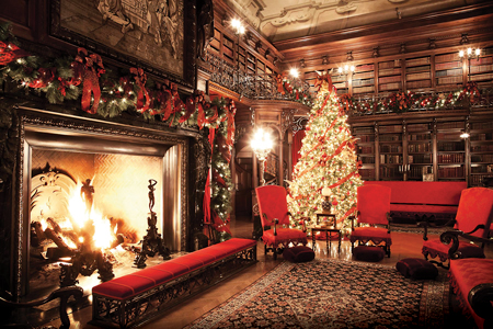 Elegantly appointed for the holiday season, The Biltmore Estate in Asheville, North Carolina, is the largest privately owned home in the United States.