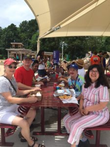 Visitors to ARCpark during its recent SummerFest that celebrated the 2.4 acre recreational area's first year.