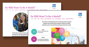 For her Girl Scout Gold Award project, Lily Goodman is designing a website to help tweens interested in modeling stay safe while exploring the industry online.
