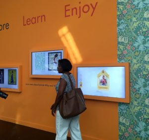 The ARTLounge is an engaging space at the close of the exhibit that inspires families to learn more about Wiley's inspiration.