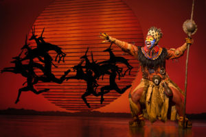 Mukelisiwe Goba as Rafiki in Disney's The Lion King [Photo by Matthew Murphy]