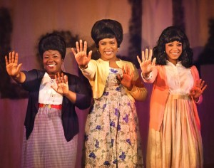 The doo-wop trio, played by Katrinah Carol Lewis, Jessi Johnson, and Ashlee Arden Heyward light up the stage.