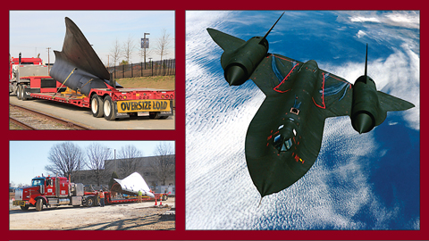 Earlier this year, the SR-71 Blackbird was transported on land from its home at the Virginia Aviation Museum near the airport to the Science Museum of Virginia on Broad Street. There, it was reassembled and displayed in the main concourse. The plane is part of the new permanent exhibit, Speed, which will open by summer.