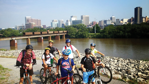 Camp adventures and opportunities along the James River are plenty for kids of all ages, including hiking, ziplining, mountain biking, fishing, and a variety of water endeavors.
