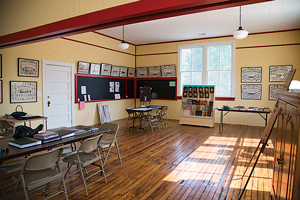 Second Union Rosenwald School in Goochland County is restored inside and out and serves as a museum and meeting space.