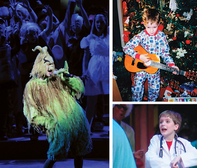 That's Evan as the Grinch in the 2010 Glorious Christmas Nights production of Sincerely Yours. He got his first guitar in 1998. Evan says the drum set followed the next Christmas. Evan was seven when he first performed with the talented volunteers who make up the cast at West End Assembly of God.