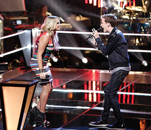Evan prevailed in his #VoiceBattle with Pharrell teammate Riley Biederer and moves on to the knockout round on NBC's The Voice.