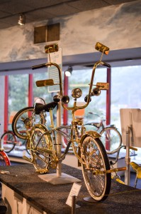 """This chrome low rider looked like """"a bike made of real gold!'"""