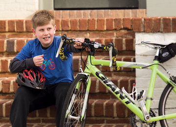 Mitchell Marcus, 13, rode his bike 500-plus miles last year to raise money for Bike Walk RVA, a group that advocates for safe biking in Richmond for all ages and abilities.