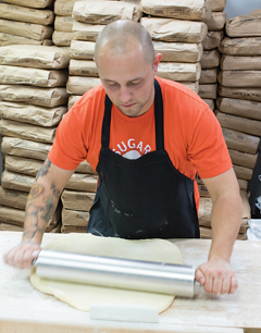 """From the beginning, the Sugar Shack patriarch has enjoyed """"rolling out the dough, making the glazes."""""""
