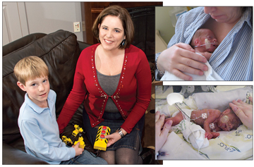 Rebekah Rollins says she never knew what health challenges her son might be facing when she came to the St. Mary's NICU each day. Jeremiah, like Matthew Sheriff, was born too soon and weighed just a pound-and-a-half at birth. The boys' mothers bonded over their similar and scary circumstances.