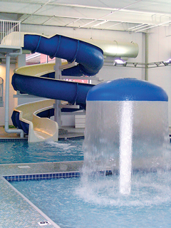 The JCC in Richmond wins the watery prize for family fun with its five-star swimming environment – including a lazy river, slide, and mushroom.