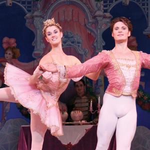 School of Richmond Ballet alum and current Richmond Ballet company dancer Valerie Tellman and Kirk Henning as The Sugar Plum Fairy and her Cavalier.
