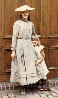 Emily and younger sister Eliza were extras in the BBC's Nancy Astor, which filmed in Church Hill in 1981.