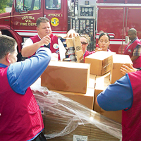 Easy access to emergency supplies is important for first responders.