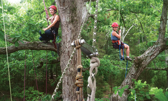 Tree climbing with Riverside Outfitters